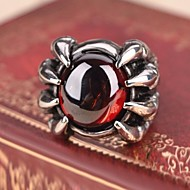Prstýnky,Ocel imitace Ruby Měsíční kámen Šperky Prsteny s kamenem