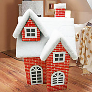 Christmas Ornaments Christmas Snow House Red ,Paper