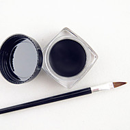 Waterproof Black Natural EyeLiner Gel with Brush Set