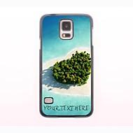 gepersonaliseerde telefoon case - hart zee ontwerp metalen behuizing voor Samsung Galaxy S5 mini