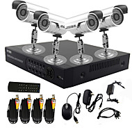 twvision® sistema de circuito cerrado de televisión dvr de 4 canales con control PTZ (4 cámara impermeable al aire libre)