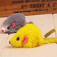 Katteleke Hundeleke Leker til kjæledyr Mus Leke med fjær Mus Tekstil