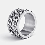Personalized Gift Men's Ring Stainless Steel Engraved Jewelry