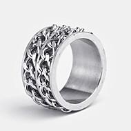 Edelstahl-plata-Ringe
