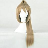Gintama Okita sougo brun hästsvans cosplay peruk