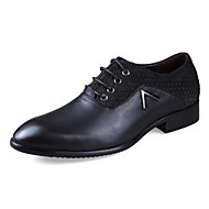 Men's Spring Fall Winter Comfort Leather Casual Flat Heel Black Brown Tan