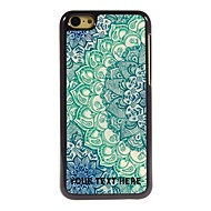 gepersonaliseerde telefoon case - blauwe lotus ontwerp metalen behuizing voor de iPhone 5c