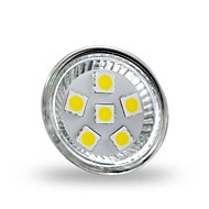 2W GU4(MR11) Spot LED MR11 6 SMD 5050 200 lm Blanc Froid Décorative DC 12 V