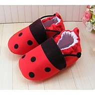 Girl's Flats Spring Summer Fall Winter First Walkers Crib Shoes Fleece Casual Red