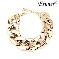 eruner® širok zrnasto zlatni lanac narukvicu žena