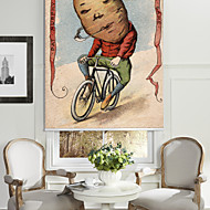 Tomato Man Riding A Bike Roller Shade