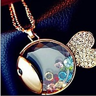 Women's Stainless Steel Necklace Daily Crystal
