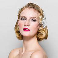 Dame Stoff Headpiece Bryllup/Spesiell Leilighet Fuglebur Slør Bryllup/Spesiell Leilighet