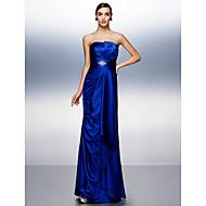 Prom/Formal Evening Dress - Royal Blue Sheath/Column Straps Floor-length Stretch Satin