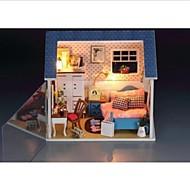 diy levou quentes de luz pequenas miniaturas quarto casa de bonecas com toda cena cover