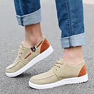 Men's Shoes Casual Canvas/Faux Leather Fashion Sneakers Khaki