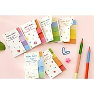arco iris multicolor notas adhesivas publicarla memo pegatinas scrapbooking almohadilla marcador (color al azar)