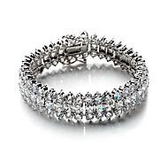 European Style Fashion Top Three Rows of Diamond CZ Bracelet