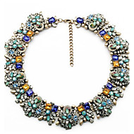 Fashion Necklace Vintage Flower Necklaces & Pendants Crystal Choker Statement Necklace