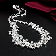 Women's Fashion Temperament Statement 925 Silver Necklace-N058