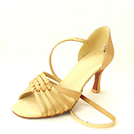 Customized Satin Ankle Strap Latin / Ballroom Women's Dance Shoes With Buckle(More Colors)
