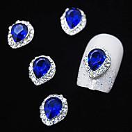 10pcs safirglas med rhinestone line legering vanddråbe fingerspidser nail art dekoration