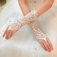 The Bride Wedding Gloves Embroidery Lace Resin Drill More Colors