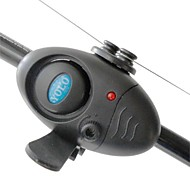 Electronic LED Light Fish Bite Sound Alarm Alert Bell Clip On Fishing Rod BlacK