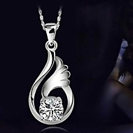 Fashion Women's European Style 925 Sterling Silver Pendant With 45cm Sterling Silver Necklace