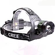 Osvětlení Čelovky LED 2000 Lumenů 3 Režim Cree XM-L T6 18650 Nastavitelné zaostřování / Voděodolný / Anglehead MultifunkčníHliníkové