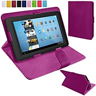 10 inç (çeşitli renklerde) için stand ile evrensel çevirme pu deri tablet durum
