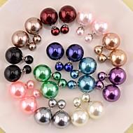 Stud Earrings Fashion Stud Double Pearl Earrings Jewelry for Women