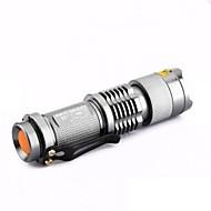 תאורה פנס LED פנסי יד LED 300 Lumens 1 מצב Cree XR-E Q5 14500 AAמיקוד מתכוונן עמיד למים ניתן לטעינה מחדש עמיד לחבטות אחיזה נגד החלקה