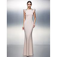 저녁 정장파티 드레스 - 블러슁 핑크 시스/컬럼 바닥 길이 보석 저지
