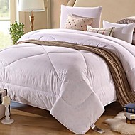 SenSleep® Comfortable Pure White Floral 100% Polyester Quilt 1pc Full Size
