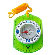 Camping Hiking Classic Map Compass+Ruler-Transparent Green+White