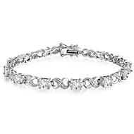 Oval CZ Infinity Design Tennis Bracelets for Women