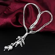 Women's Fashion Temperament Statement 925 Silver Necklace-N186
