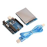 """board modul uno R3 + 2,8 """"TFT LCD dotykový displej štít modul pro Arduino"""
