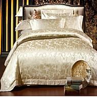 hc satijn met jacquard dekbedovertrek set 4 stuks bloemmotief Europese paleis stijl