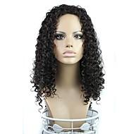 24 palců dlouhé vlasy vlnité 180 stupňů vysoké teploty vlákna syntetická paruka