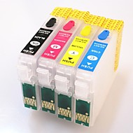 permanent chip epson t1631-t1634 refill blekkpatron for Epson Workforce WF-2010w / 2510wf / 2520nf / 2530wf / 2540wf