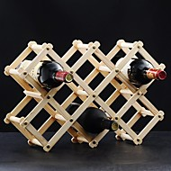 Elegant Scalable and Folding Placed 10 Bottle Wine Wood Wine Rack (2 Colors)