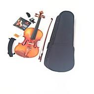 Maple ZaoMu Accessories + Tiger Stripes Violin Shoulder+ Strings + Tuner +  Mute + Rosin +  Bow+ Box