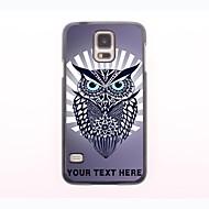 gepersonaliseerde telefoon geval - havik uil ontwerp metalen behuizing voor Samsung Galaxy S5