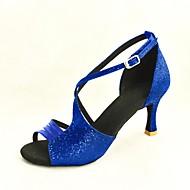 סנדלי נשים להתאמה אישית לטיניות הנוצץ נעלי ריקוד נצנצים (צבעים נוספים)