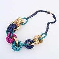 masoo dámská móda jednoduchý kovový kruh náhrdelník