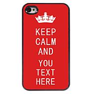 индивидуальный кейс красный сохранять спокойствие дизайн металлический корпус для iPhone 4 / 4s