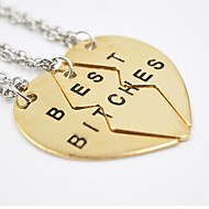 Necklace Pendant Necklaces Jewelry Daily / Casual Fashion / Adjustable Alloy Gold / Silver 3pcs Gift