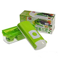 Multifunctional Vegetable Cutter,ABS+Stainless Steel 27.5×10.5×11 CM(10.9×4.2×4.3 INCH)